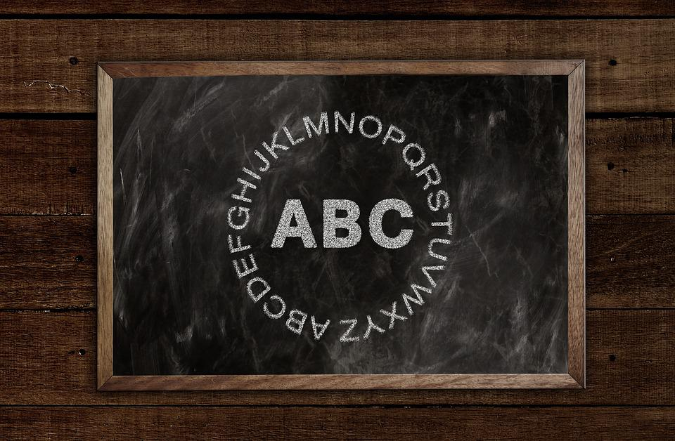 Letters, A, Abc, Board, Alphabet, Literacy, Illiterate