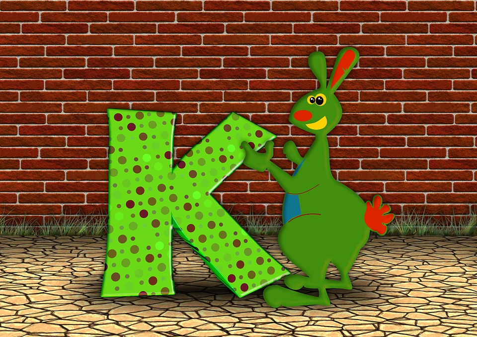 Alphabet Wall Chart: Free photo Alphabet Literacy Letters Abc Kangaroo Education - Max ,Chart