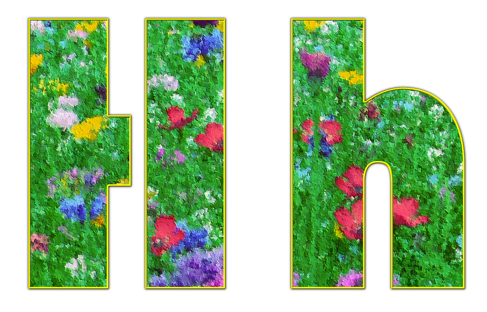 Letter, Alphabet, Font, Spring, Meadow, Flowers