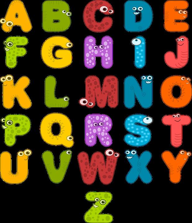 Alphabet, Eyes, Letters, Funny, Colorful, Symbols