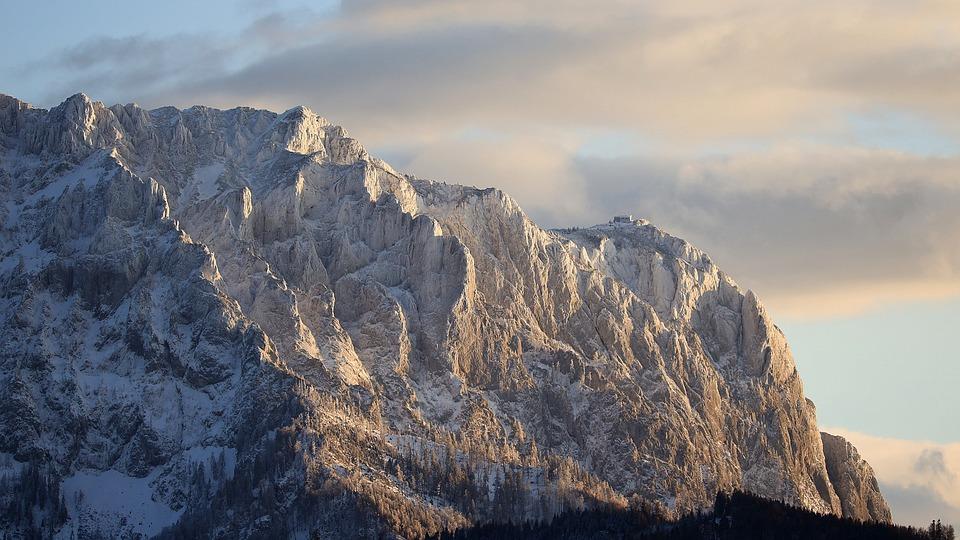 Alpine, Mountain, Landscape, Sunset, Austria, Wintry