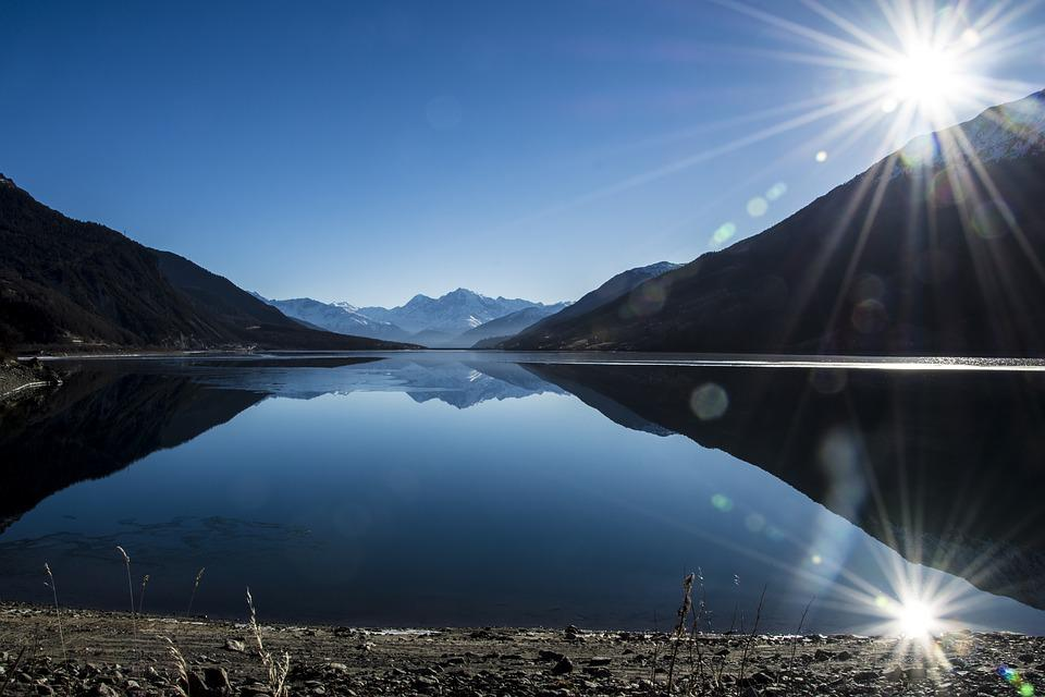 Bergsee, Lake, Alpine, Mountains, Landscape, Nature