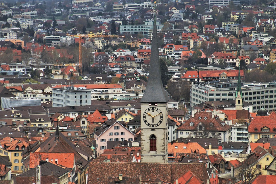 Panorama, Chur, Far View, Alpine, Travel, Clock