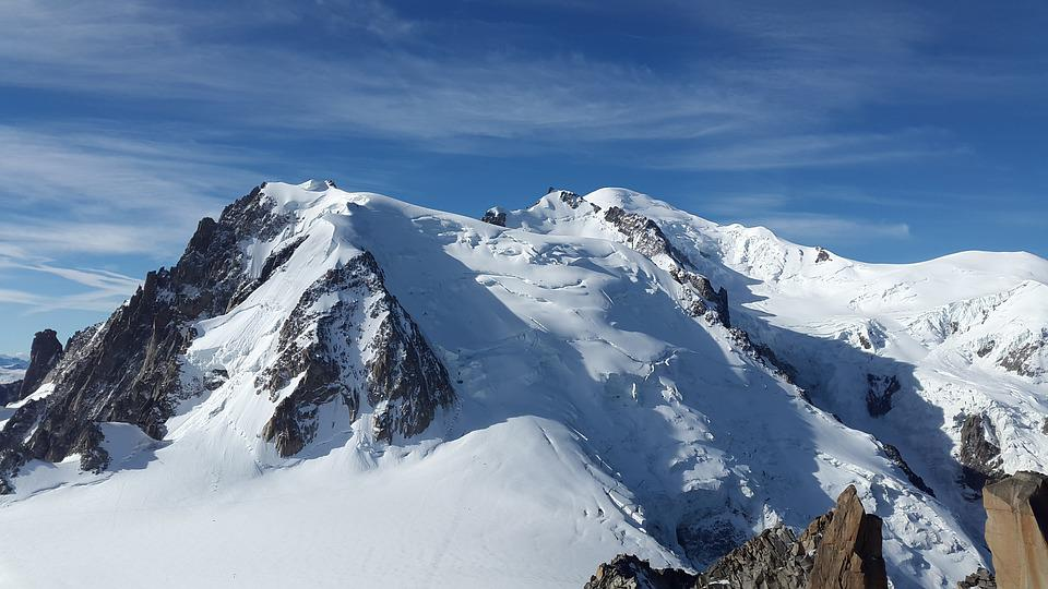 Mont Blanc, High Mountains, Alpine, Mont Blanc Du Tacul