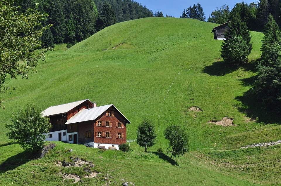 Mountains, Alpine, Berghaus, Home, Landscape