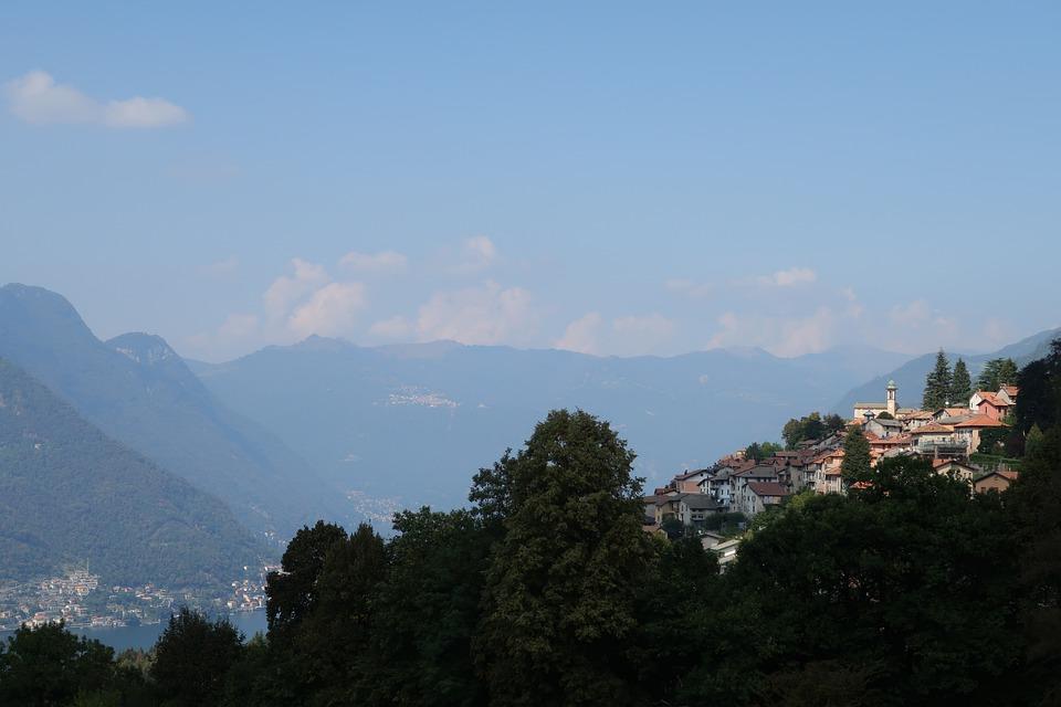Italy, Bergdorf, Lake, Lombardy, Mountains, Alpine