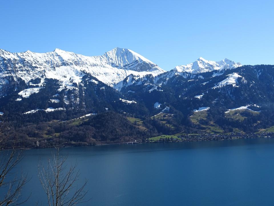 Mountains, Lake, Alpine, Weather, Blue, Sky