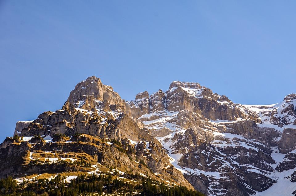 Mountains, Alpine, Massif, Lake Klöntal, Vrenelisgärtli