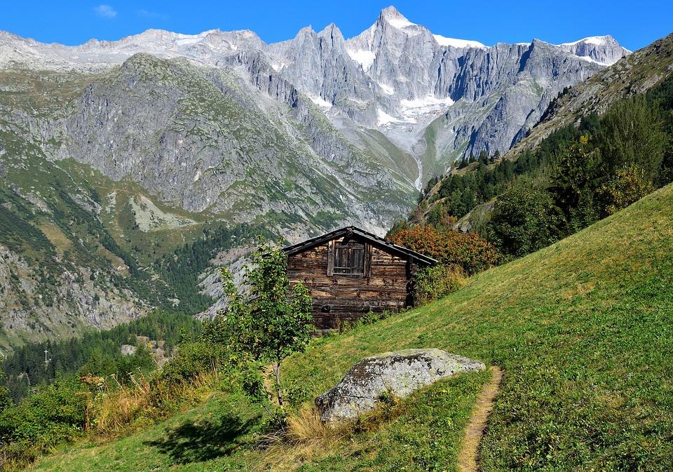 Mountain, Mountain Hut, Landscape, Alpine, Chalet