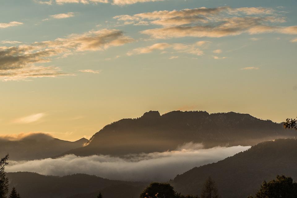 Fog, Mountains, Alpine, Landscape, Mountain, Haze