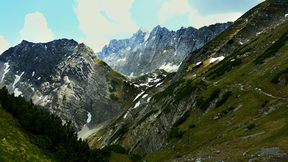 Mountains, Karwendel, Hiking, Mountaineering, Alpine