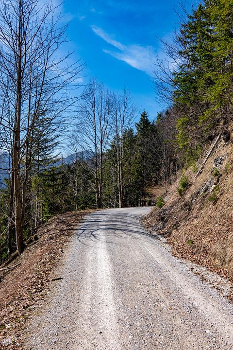 Mountains, Alpine, Sky, Away, Road, Route