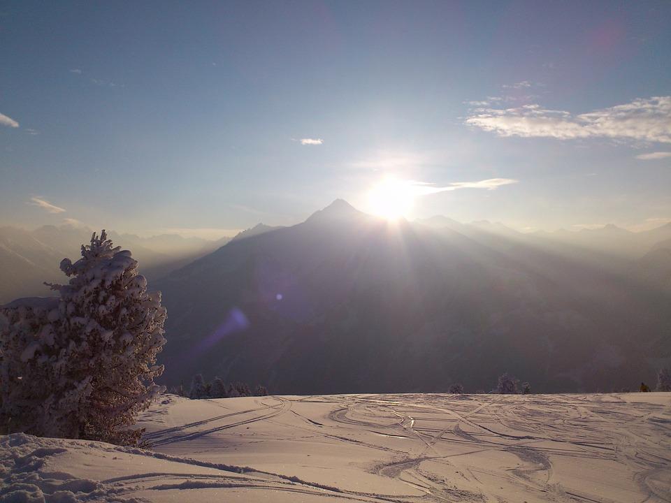 Winter, Winterpanoram, Alpine, Mountains, Sun, Snow