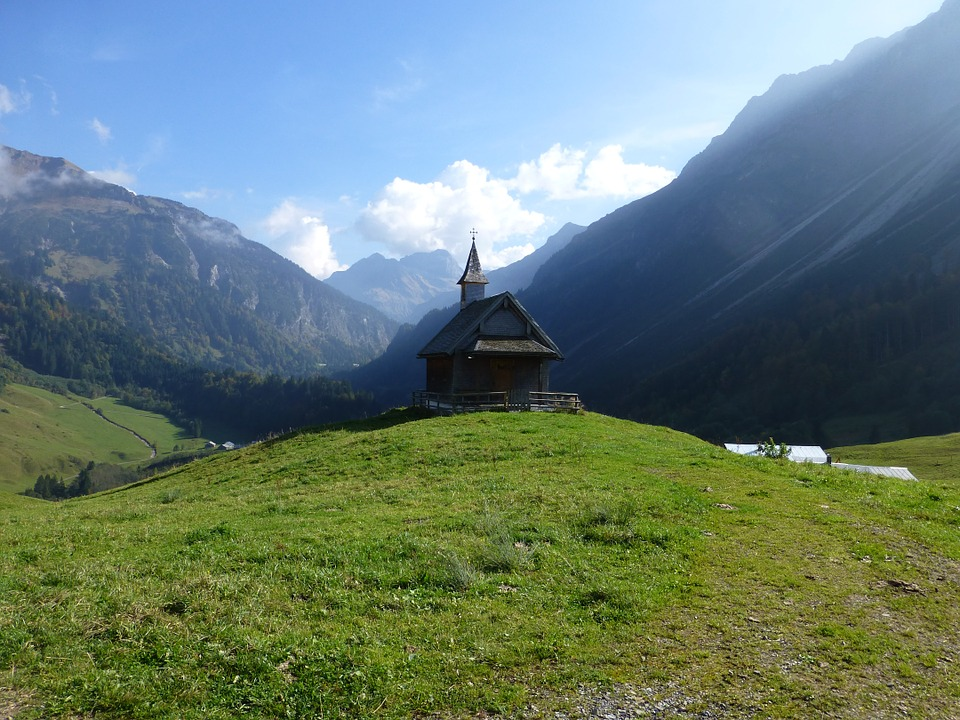 Chapel, Hiking, Mountains, Alpine, Nature, Landscape