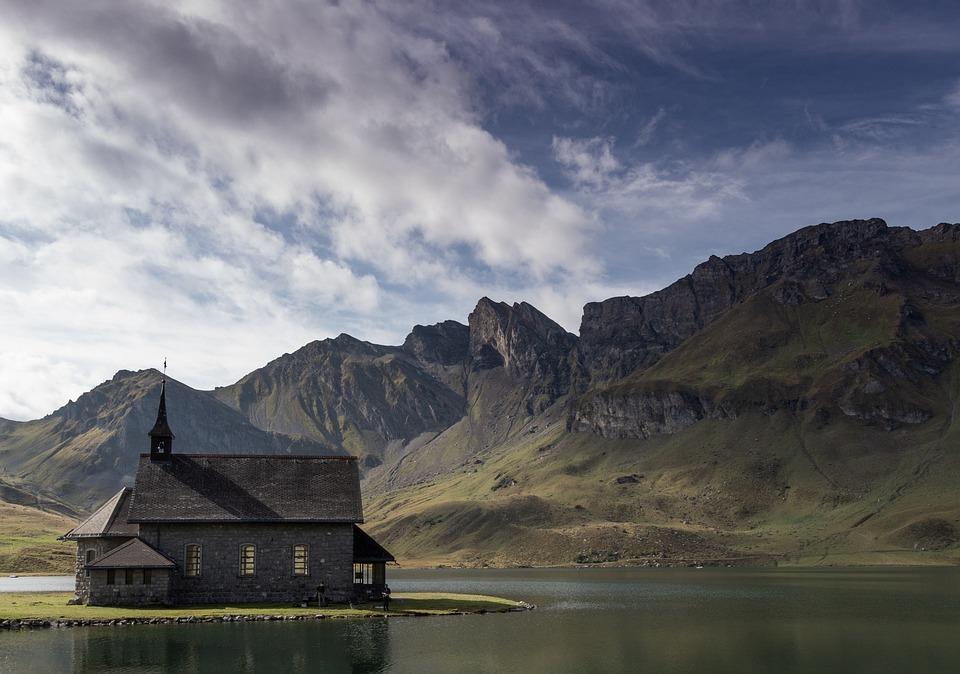 Chapel, Lake, Nature, Landscape, Water, Church, Alpine