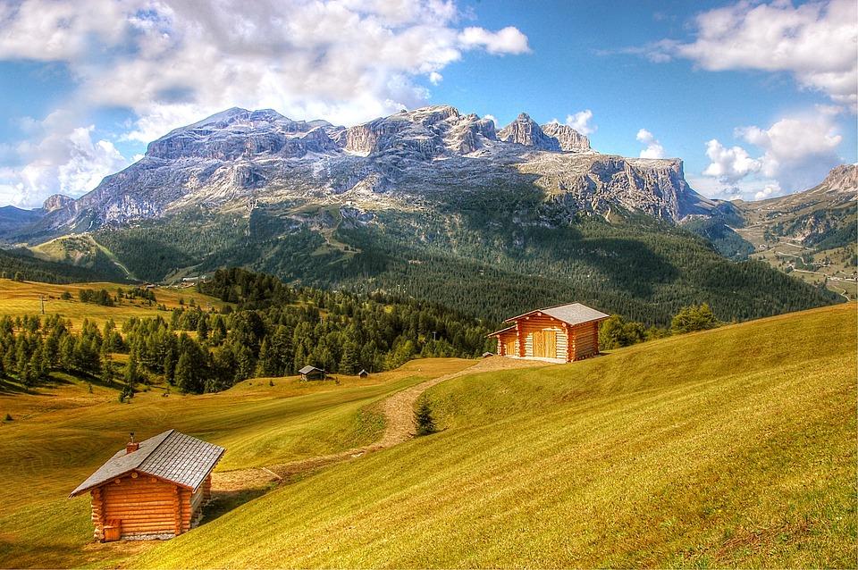 Sella, Pralongia, Alpine, Mountain Landscape, Nature