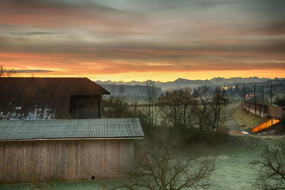 Morgenstimmung, Alpine Ridge, Winter