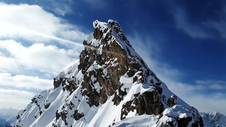 Summit, Mountain, Snow, Target, Landscape, Alpine