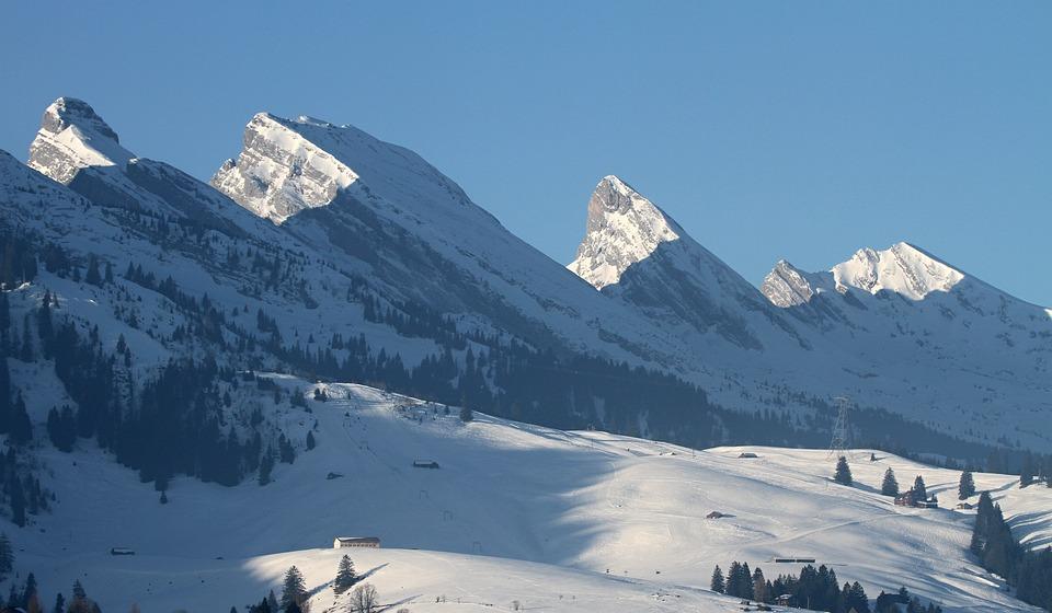 Churfirsten, Mountains, Alpine, Switzerland, Snow, Rock