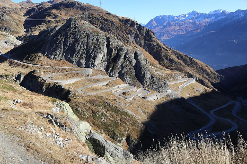 Pass Road, Gotthard, Alpine, Switzerland, Drive, Swiss