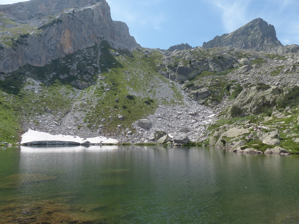 Lake, Bergsee, Alpine, Maritime Alps, Water