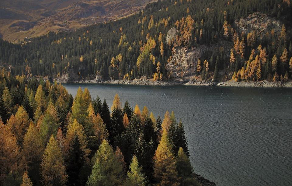 Twilight, Lake, Alpine, Mountains, Water Surface
