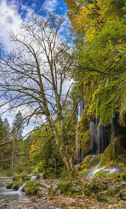 Veil Cases, Waterfall, Autumn, Alpine, Beautiful