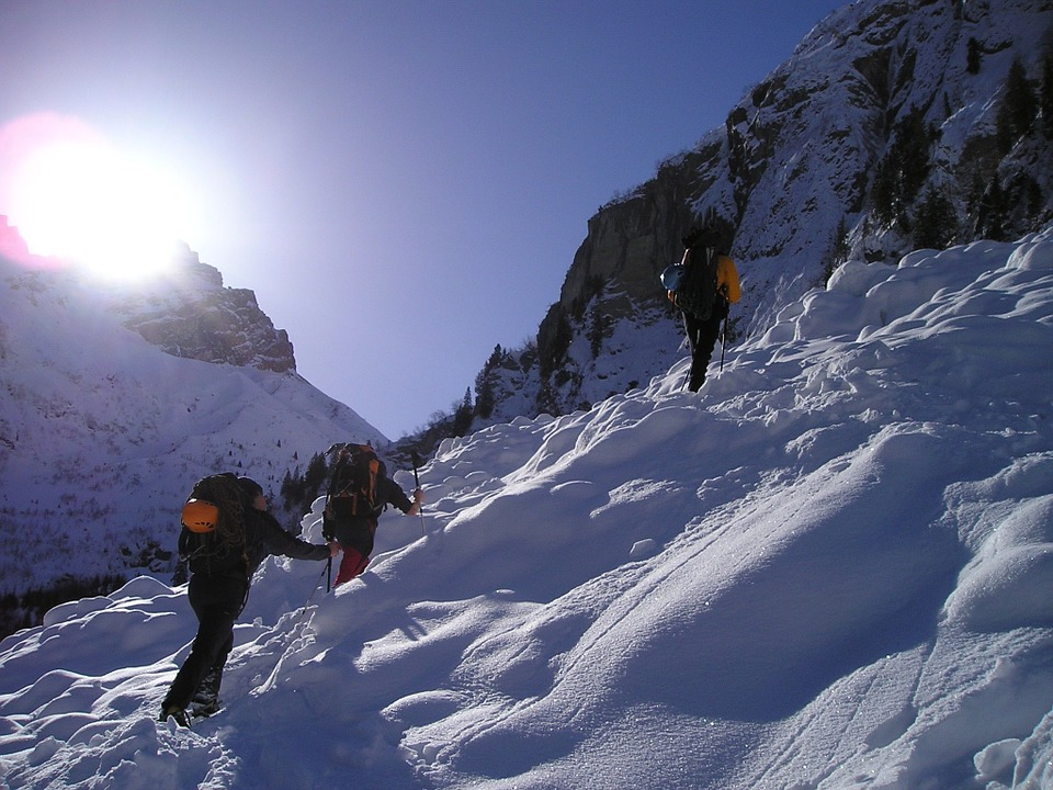 Snow Shoes, Hiking, Snow, Snowshoeing, Alpinism