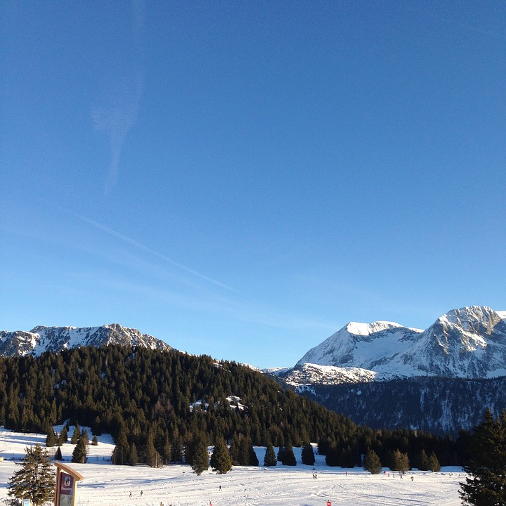 Mountain, France, Alps, Snow, Fir, Landscape, Winter