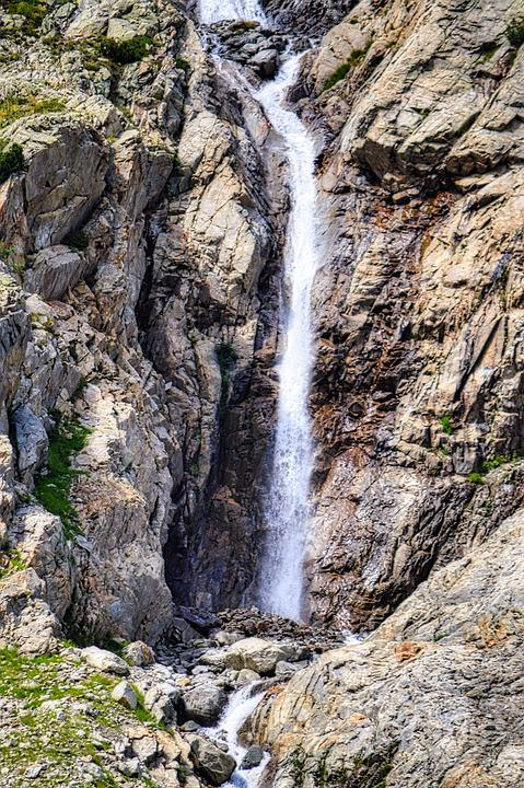 Waterfall, Haute-savoie, Alps, France, Mountains