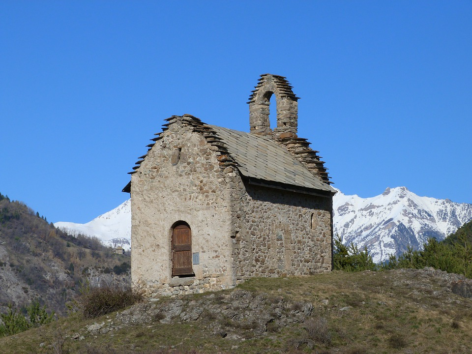Chapel, Mountain, Alps, Small, Isolated, Landscape