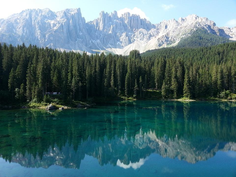 Lake Caress, Dolomites, Italy, Alps