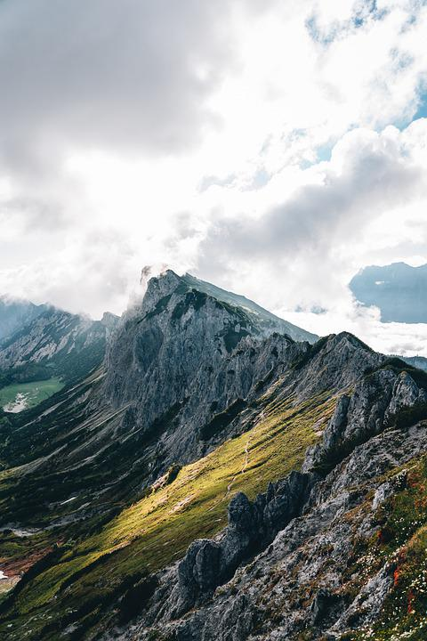 Mountains, Summit, Landscape, Nature, Scenery, Alps