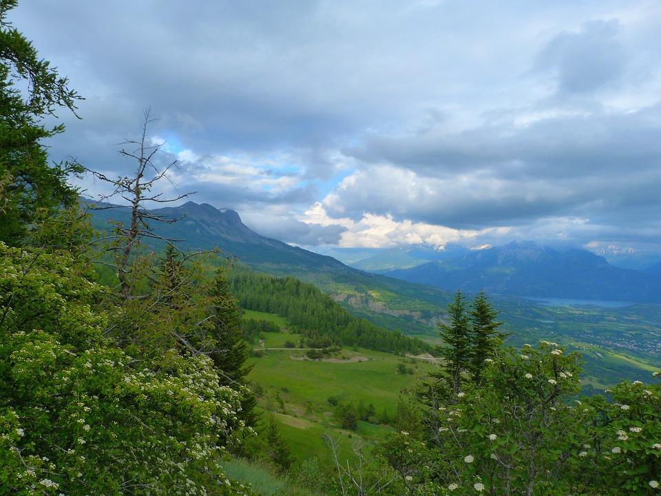Landscape, Nature, Mountain, Alps, Hautes Alpes, Sky