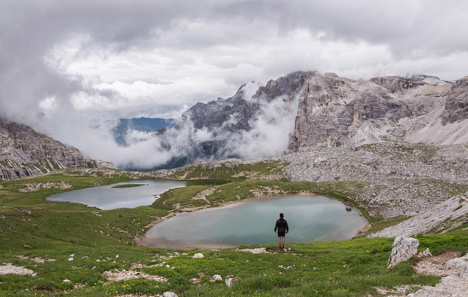 Dolomites, Hiker, Landscape, Rock, Hiking, Alps, Nature