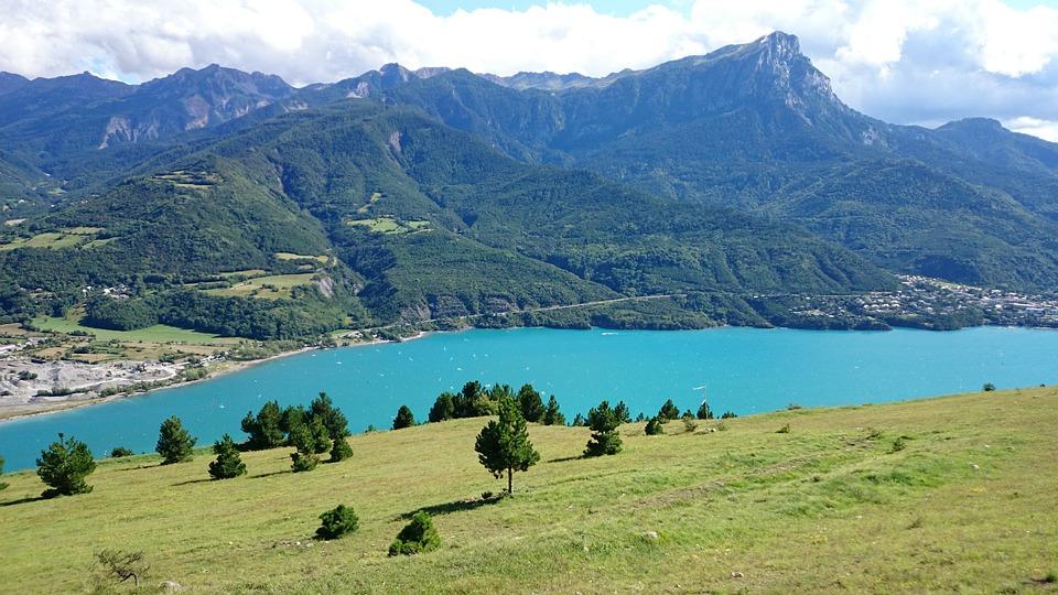 Lake, Mountain, Nature, Landscape, Sky, Alps, Ride