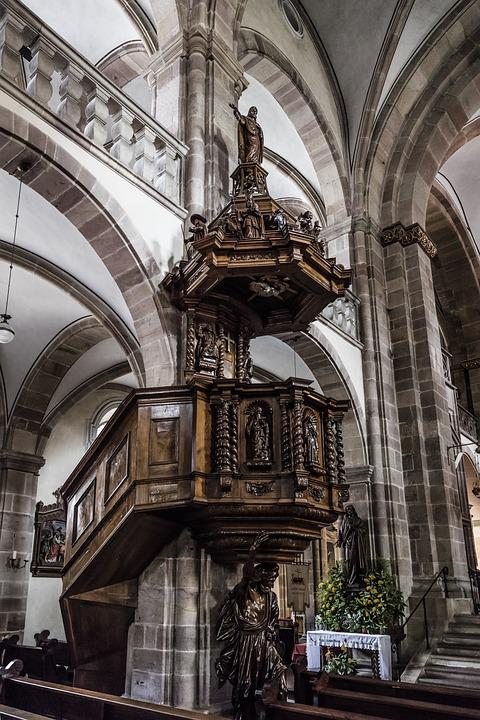 Alsace, Church, Gallery, Cathedral, House Of Worship