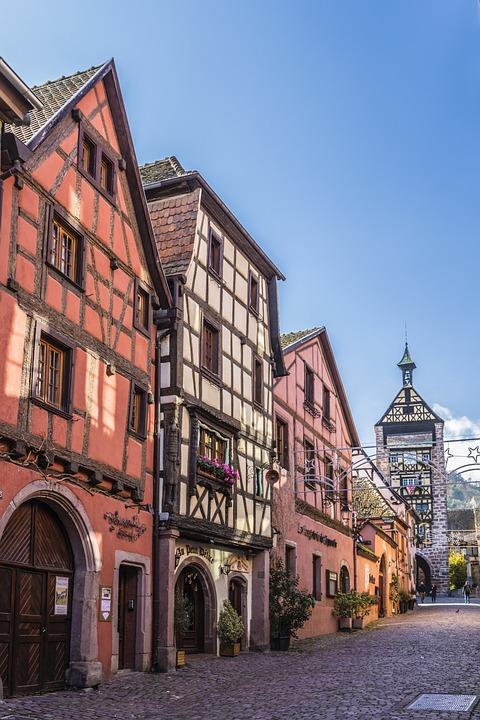 France, Alsace, Truss, Old Town, Riquewihr