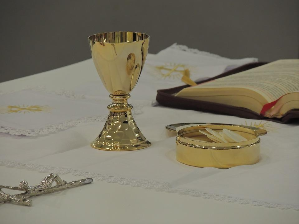 Chalice, Mass, Consecration, Church, Altar, Catholic