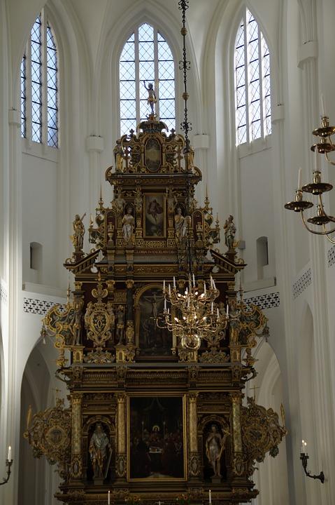 Church, Altar, Perspective, Religion, Christian