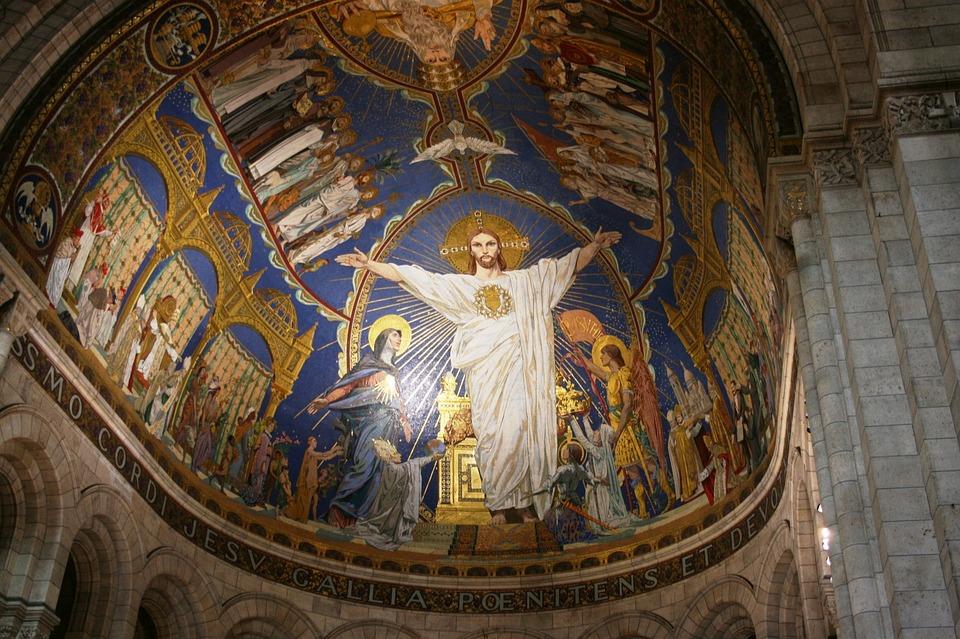 Jesus Christ, Sacre Coeur, Altar, Paris