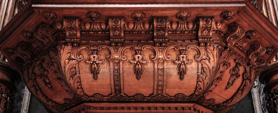 Wooden Structure, Detail, Altar, Wooden, Structure
