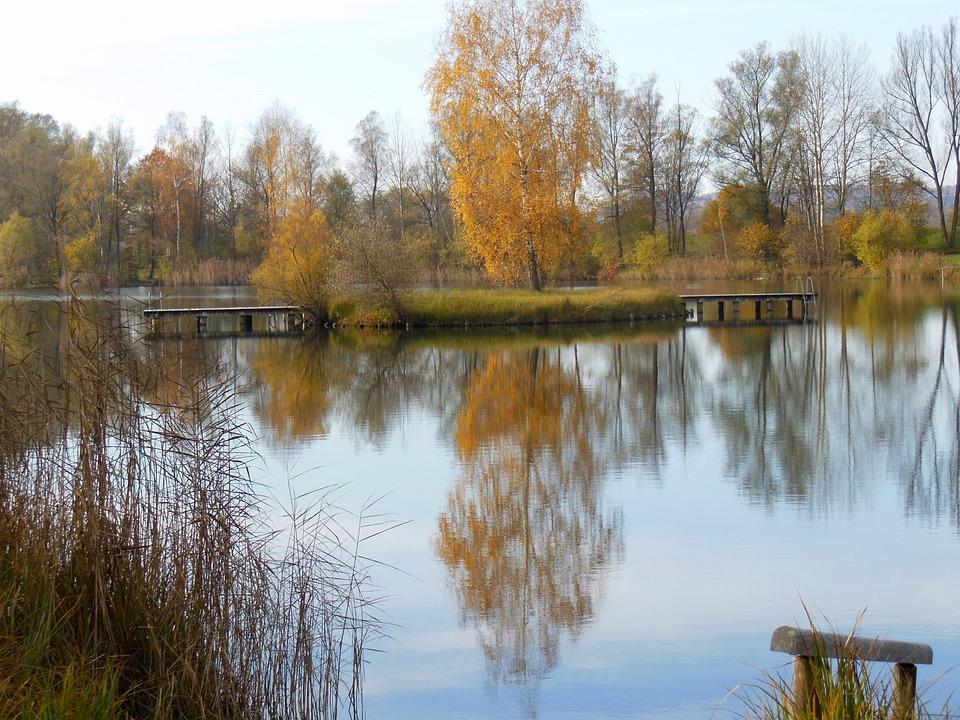 Lake, Sperach, Peracher Bathing Lake, Altötting