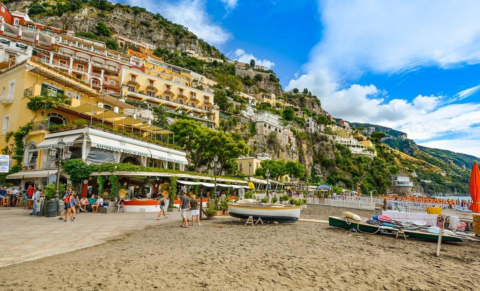 Amalfi, Coast, Resort, Hillside, Mediterranean, Italy