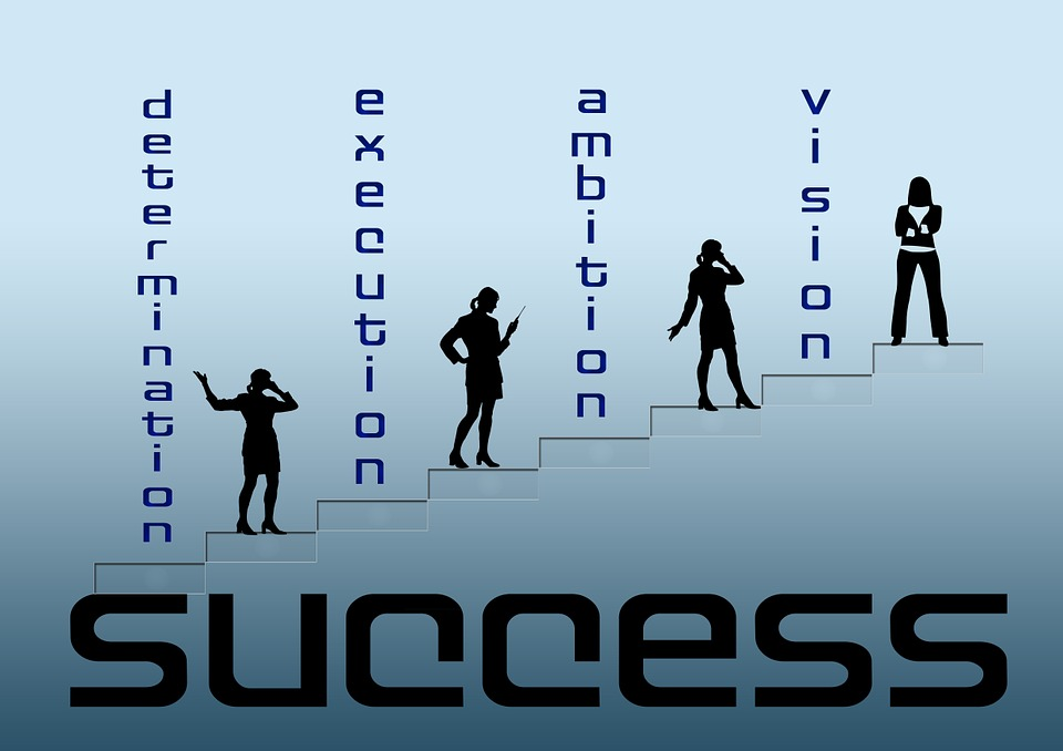Woman, Businesswoman, Stairs, Font, Success, Ambition