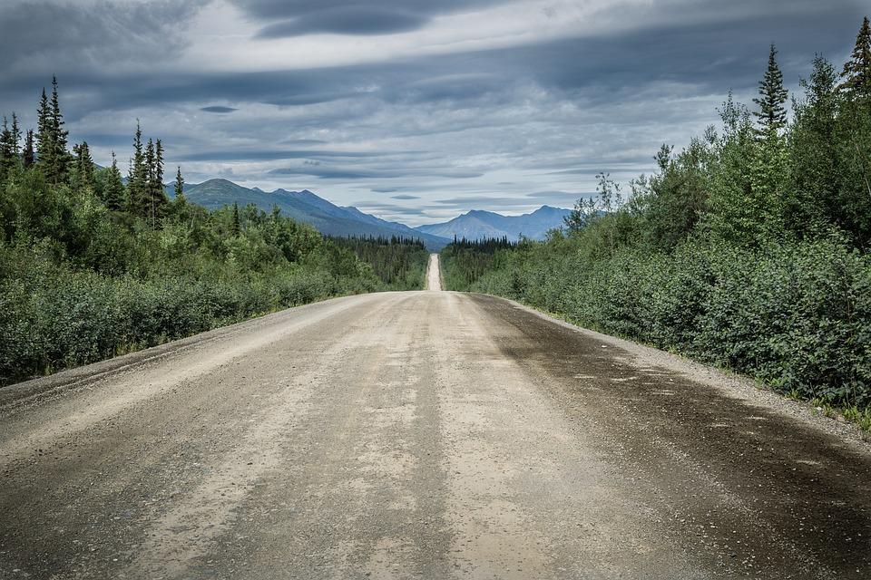 Cloud Mood, Road, Gravel Road, America, National Park