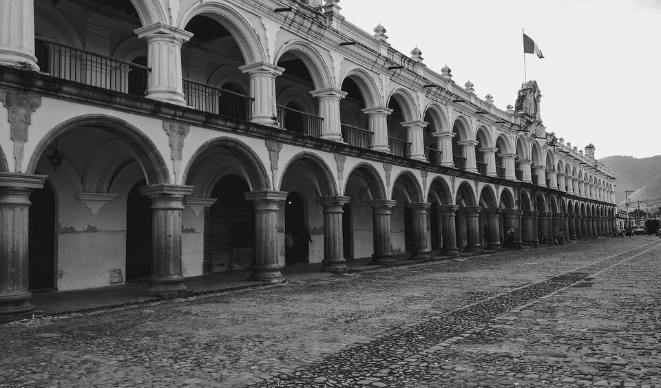 Antigua, Guatemala, Colonial, Architecture, America