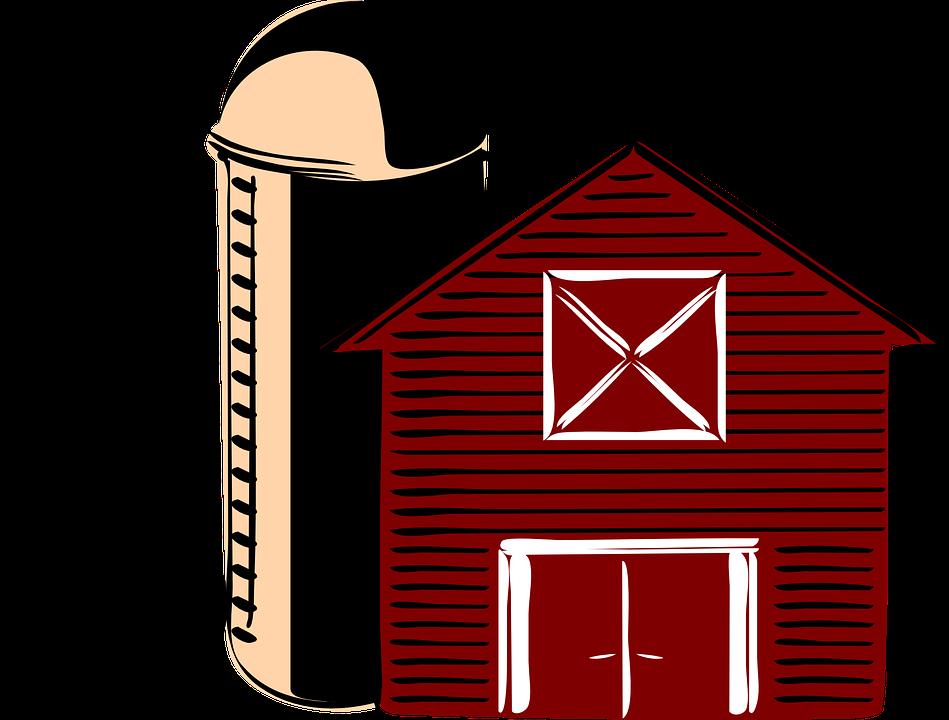 Barn, Traditional, Silo, America, Countryside, Red