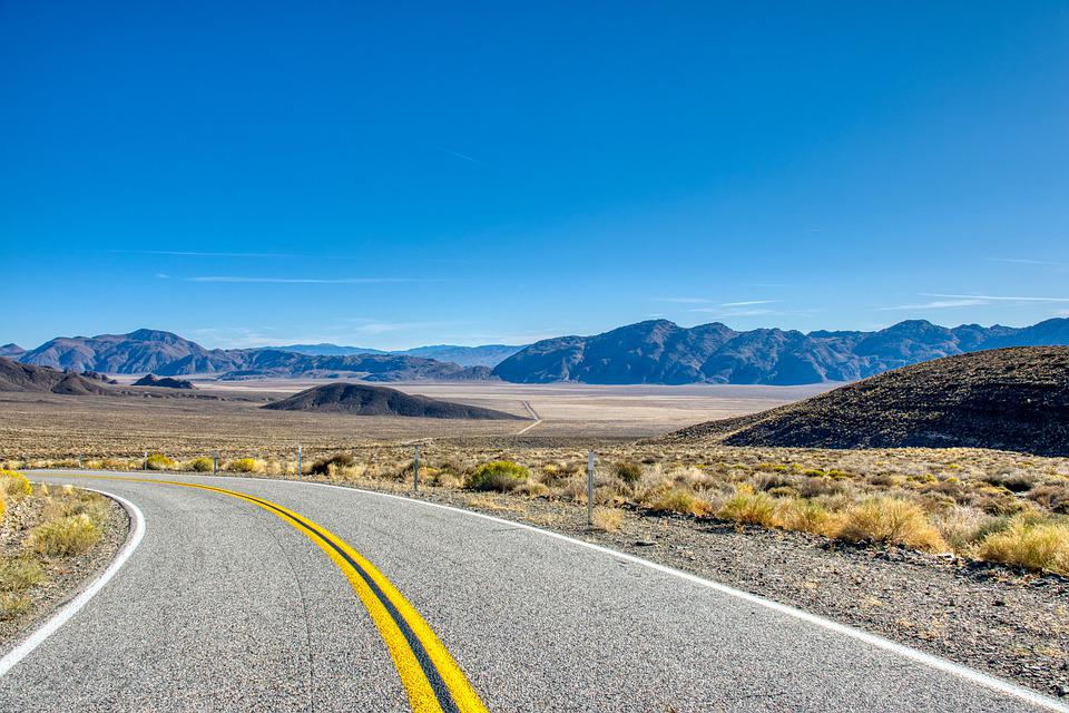 Road, Highway, Valley, Desert, America, Usa, Arid