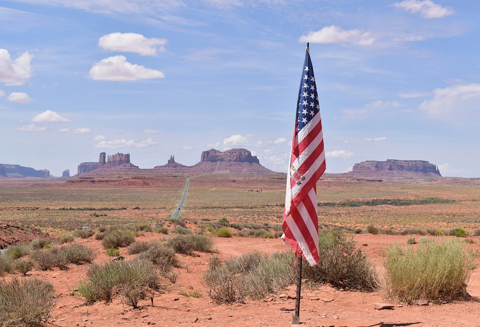 Flag, America, Monument, Rock, Arizona, Patriotic
